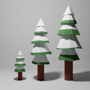 3種類の樹木の画像